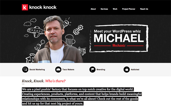 Knock Knock Factory website