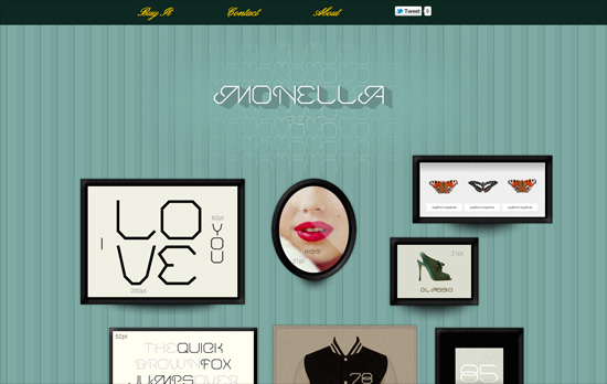 Monella Font website