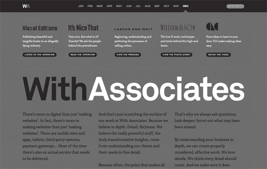 With Associates : December 2011 website