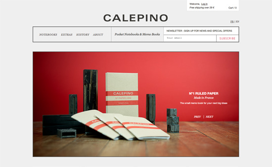 Calepino Pocket Notebooks website