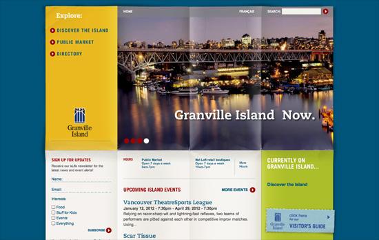 Granville Island website