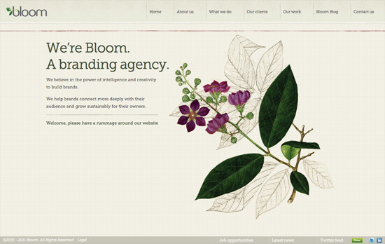 Bloom website