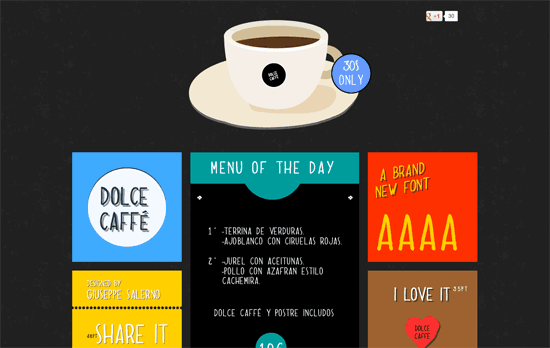 Dolce Caffè Font website
