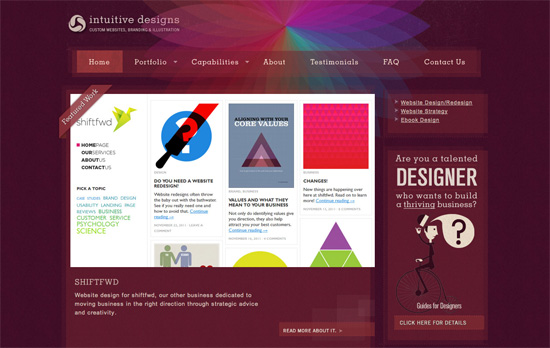 Intuitive Designs website