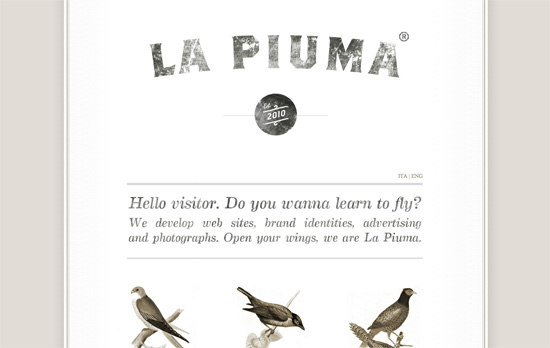 La Piuma website