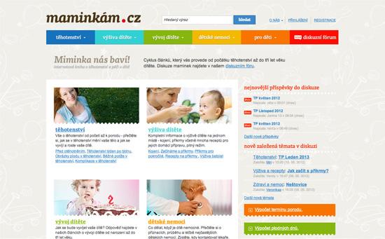 Maminkám.cz website