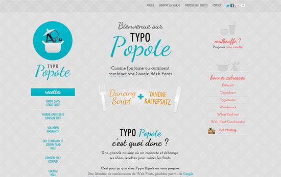 Typo Popote website
