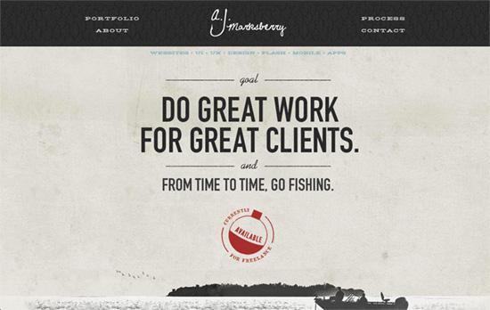 AJ Marksberry's website