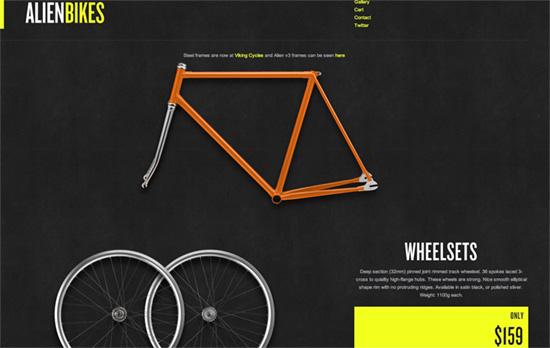 Alien Bikes website