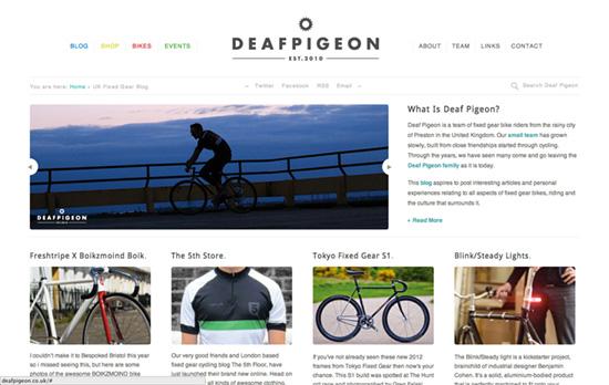 Deaf Pigeon website