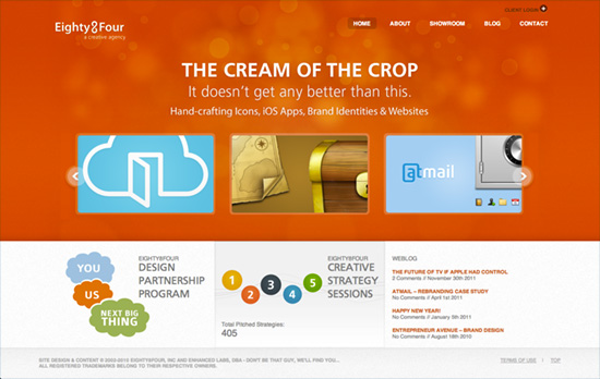 Eighty8Four website