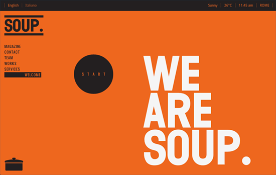 SOUP Agency website