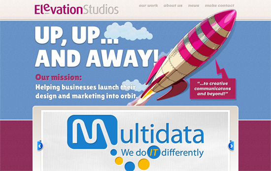 Elevation Studios website