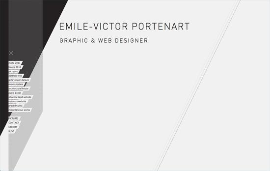 Emile-Victor Portenart's website