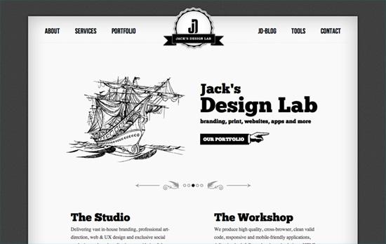 Jack's Design Lab website
