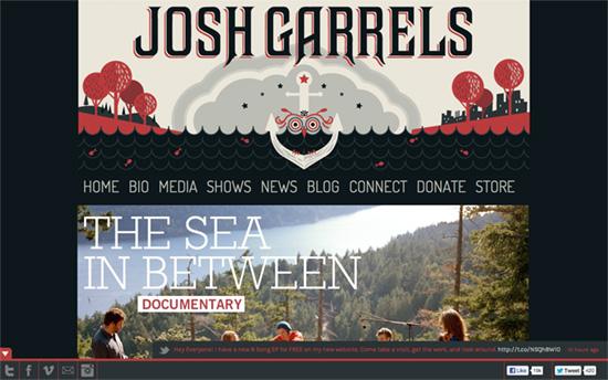 Josh Garrels' website