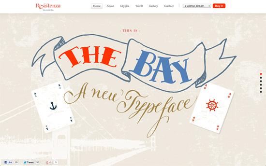 The Bay - Handwritten Font website