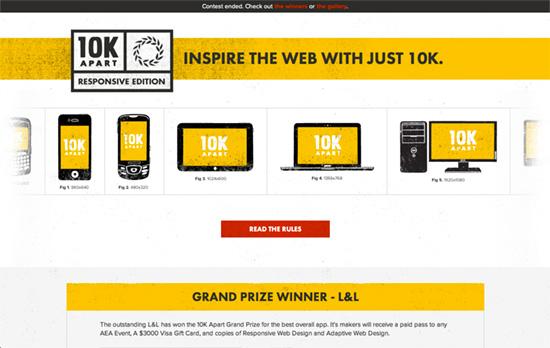 10k Apart website