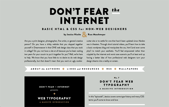 Don't Fear the Internet website