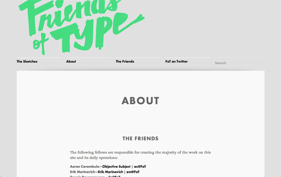 Friends of Type website