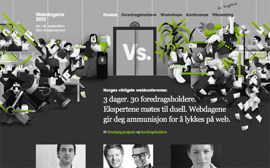 Webdagene 2012 website