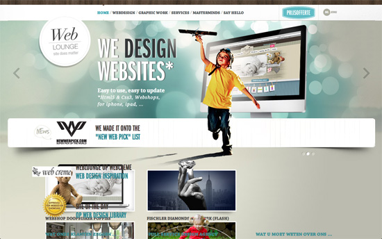 Webdesign Weblounge website