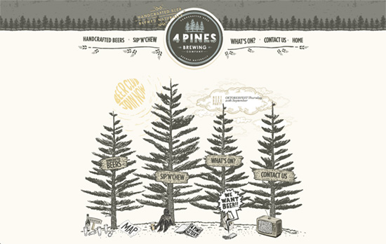 4 Pines Beer website