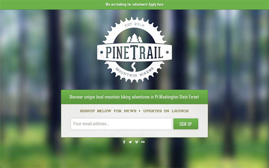 Pine Trail Mountain Bikers website