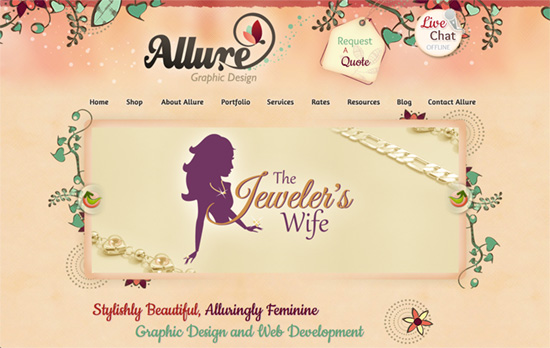Allure Graphic Design website