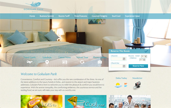 Gokulam Doha website
