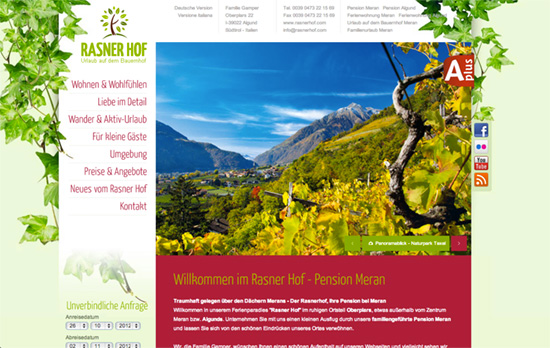 Rasner Hof website