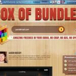 Box of Bundles website