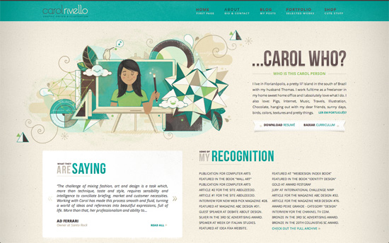 Carol Rivello's website