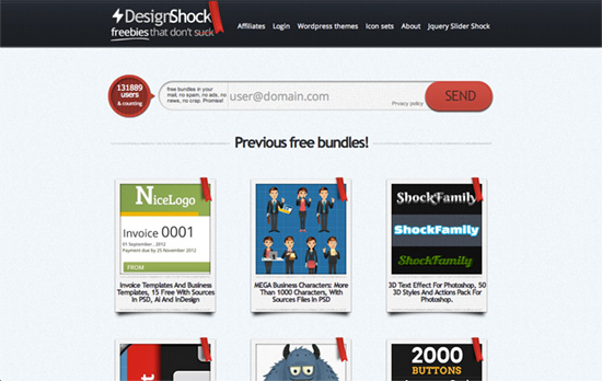 DesignShock website