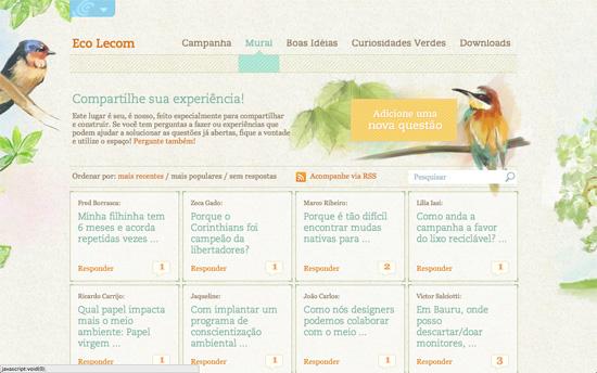Experiência Lecom website