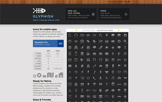 Glyphish website