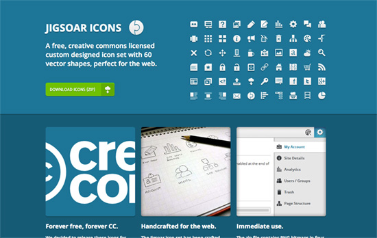 Jigsoar Icons website
