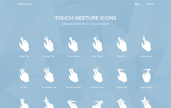 Touch Gesture Icons website