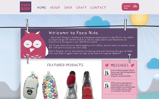 Poco Nido website