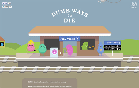 Dumb Ways to Die website