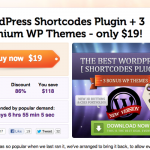 Deal of the Week: WordPress Shortcodes Plugin +3 Extra Premium Themes