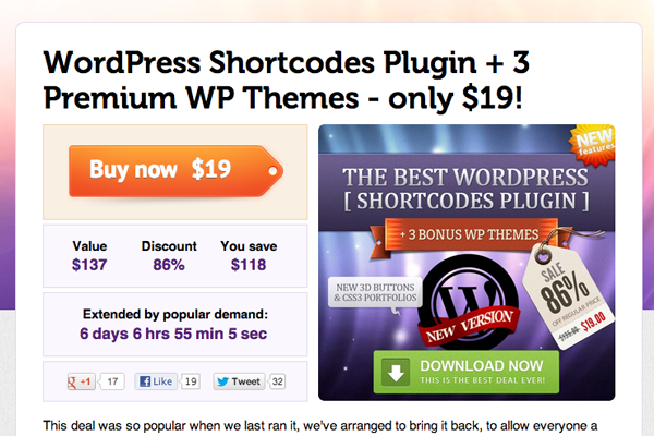 mighty deals wordpress plugins premium sales