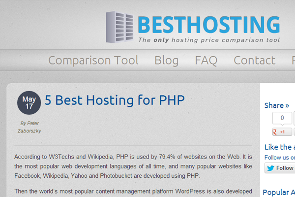phphosting website top5 php servers companies