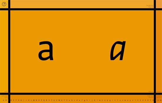Greta Sans Type System Specimen App from Typotheque