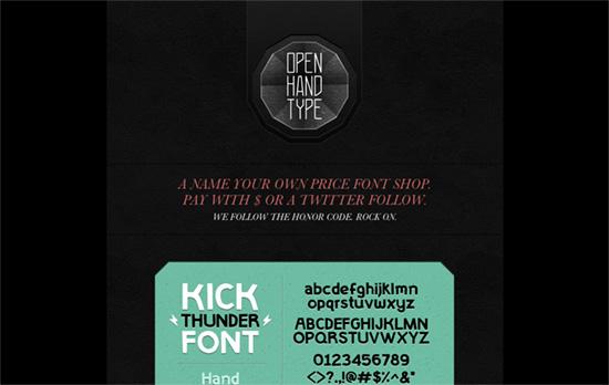 Open Hand Type