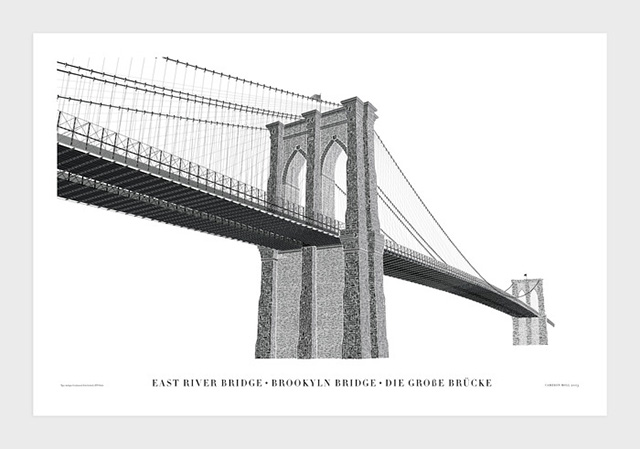 Brooklyn Bridge Letterpress Poster