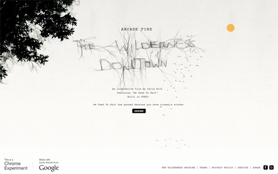 The Wilderness Downtown: We Used To Wait by Arcade Fire
